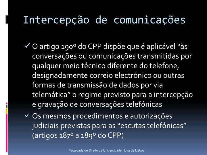 Intercepção de comunicações