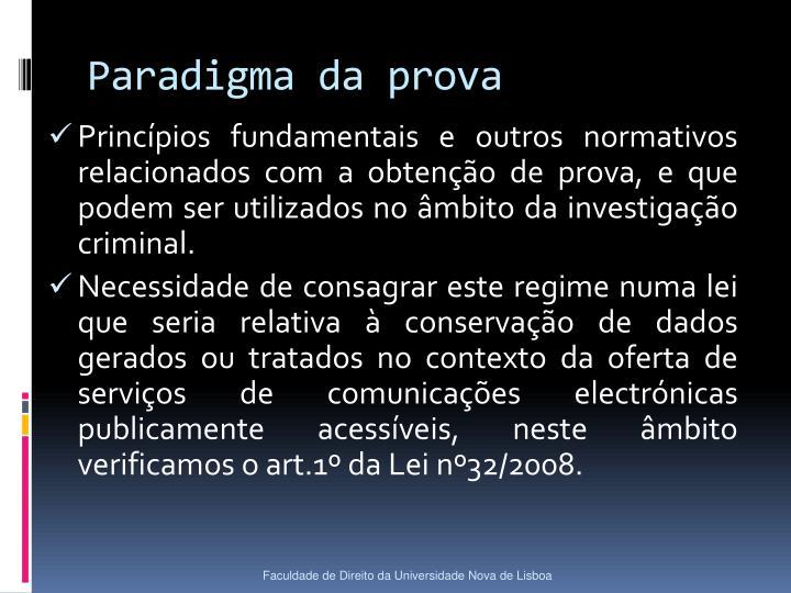 Paradigma da prova