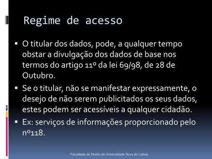 Regime de acesso