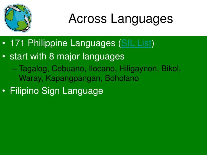 Across Languages