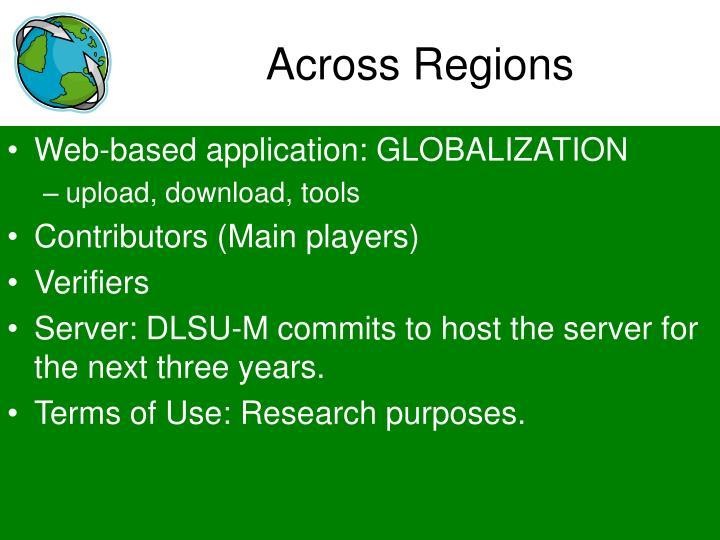 Across Regions