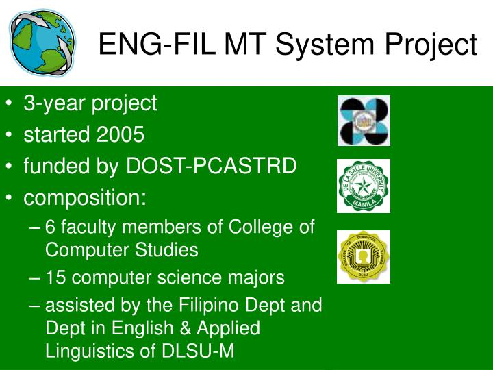 ENG-FIL MT System Project