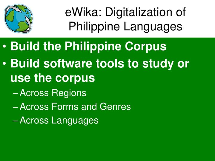 eWika: Digitalization of Philippine Languages