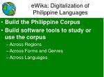 ewika digitalization of philippine languages
