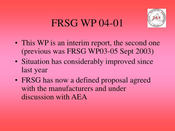 FRSG WP 04-01