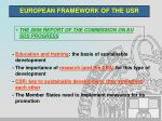 european framework of the usr3