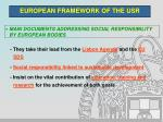 european framework of the usr4