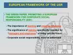 european framework of the usr5