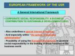 european framework of the usr6