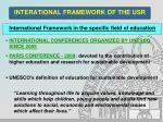 interational framework of the usr