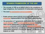 spanish framework of the usr1