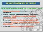 spanish framework of the usr2
