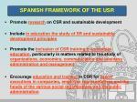 spanish framework of the usr3