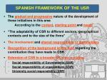 spanish framework of the usr4