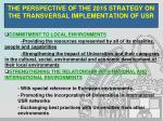 the perspective of the 2015 strategy on the transversal implementation of usr8