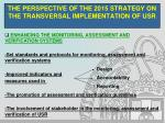 the perspective of the 2015 strategy on the transversal implementation of usr9