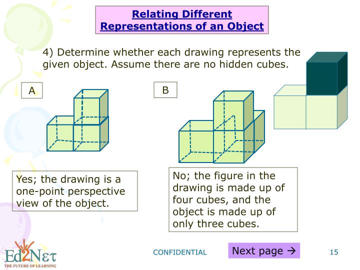 Relating Different Representations of an Object