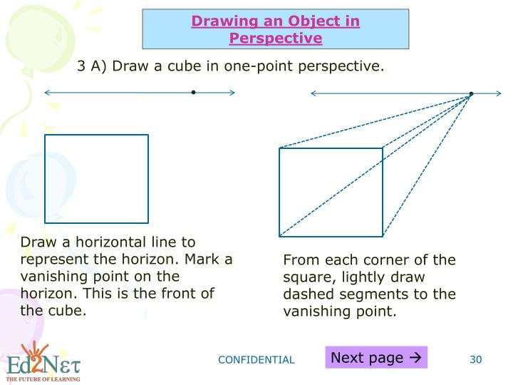 Drawing an Object in Perspective