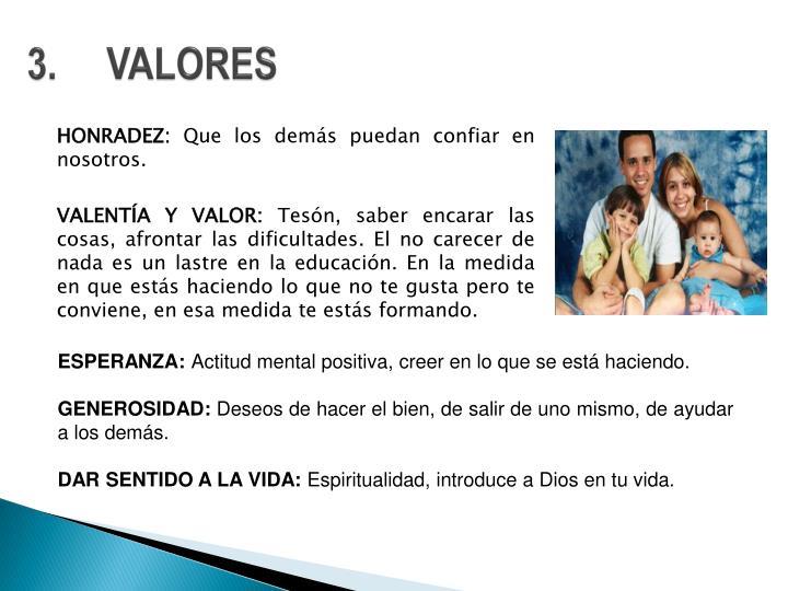 3.VALORES