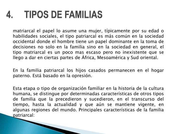 4.TIPOS DE FAMILIAS