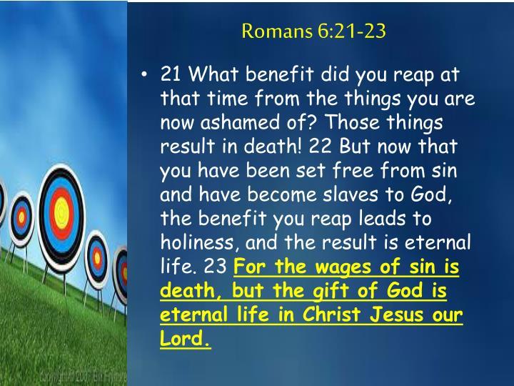 Romans 6:21-23