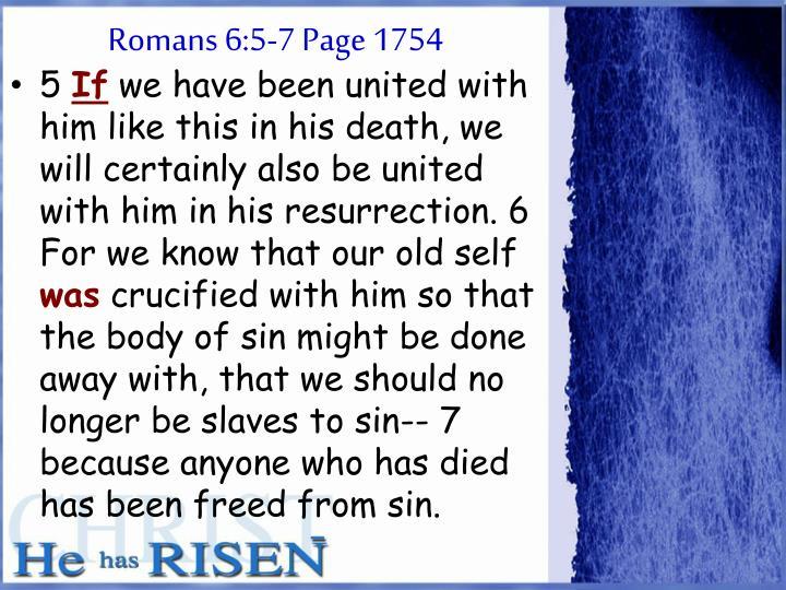 Romans 6:5-7 Page 1754