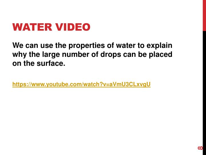 Water Video