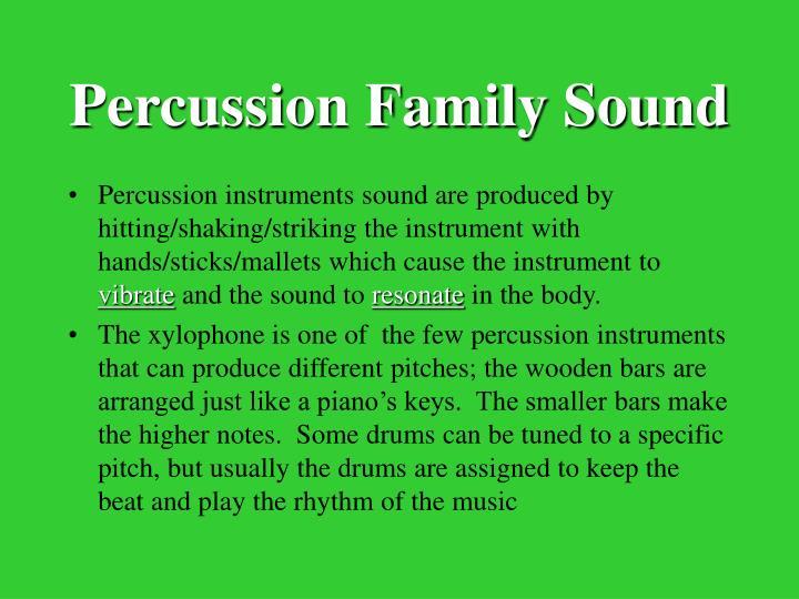 Percussion Family Sound