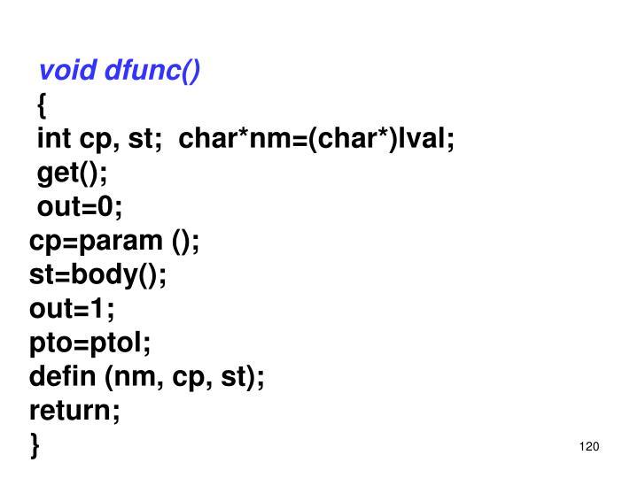 void dfunc()