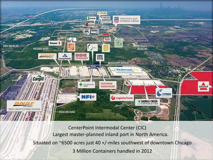 CenterPoint Intermodal Center (CIC)