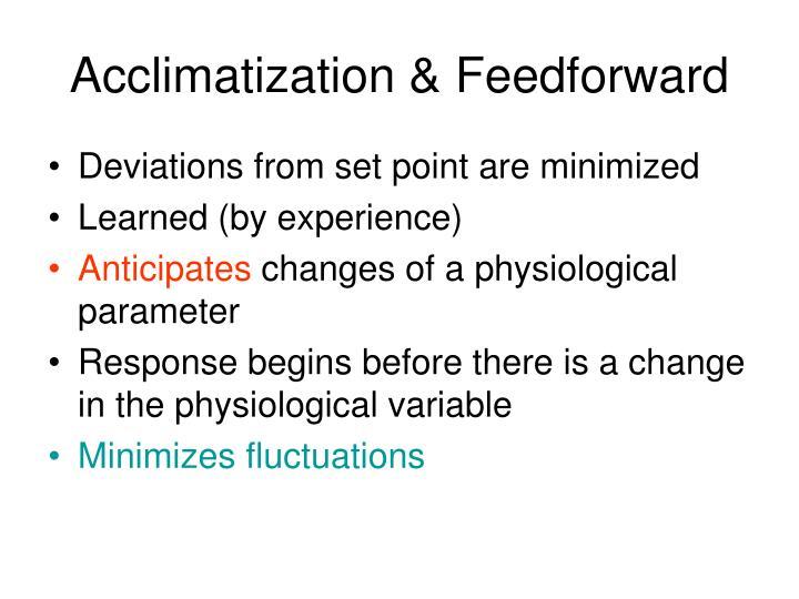 Acclimatization & Feedforward