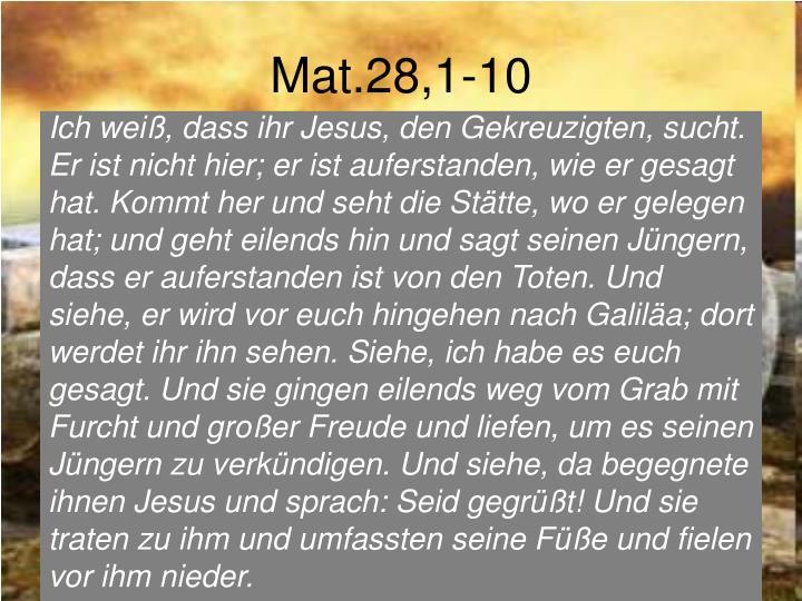 Mat.28,1-10