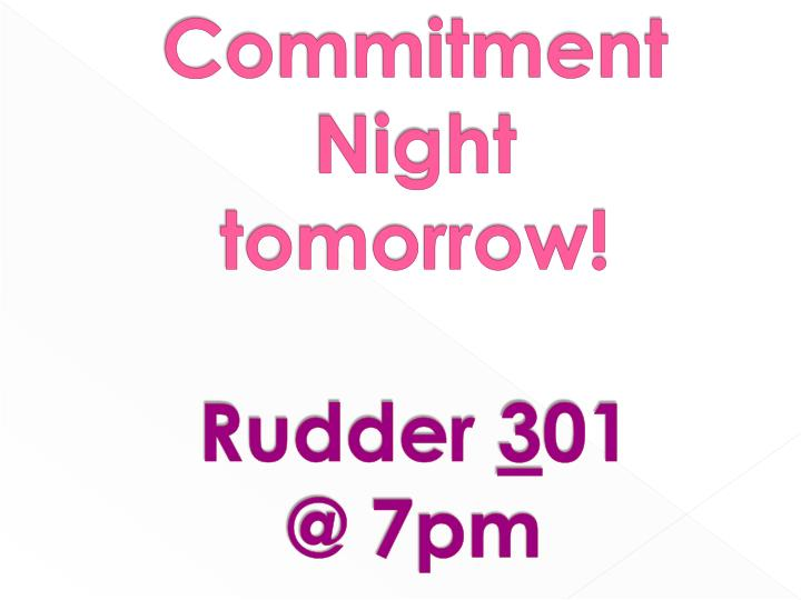 Commitment Night