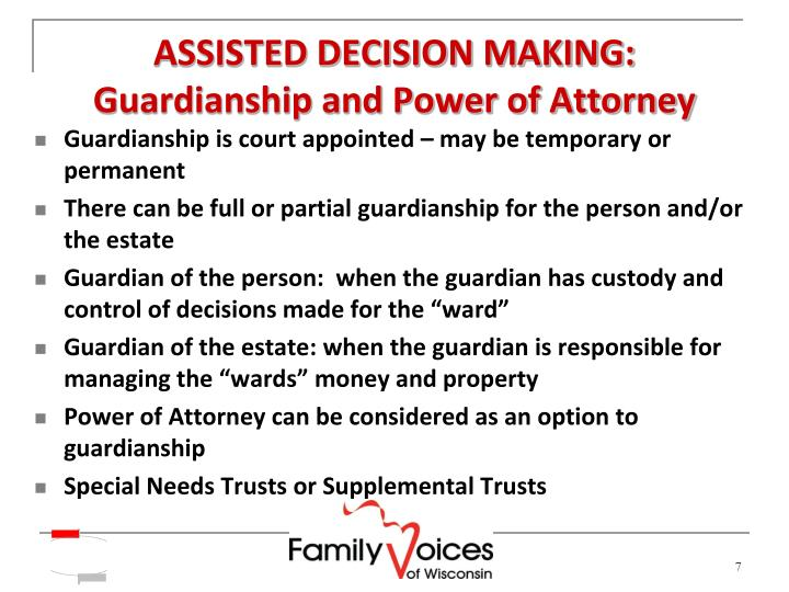 ASSISTED DECISION MAKING: