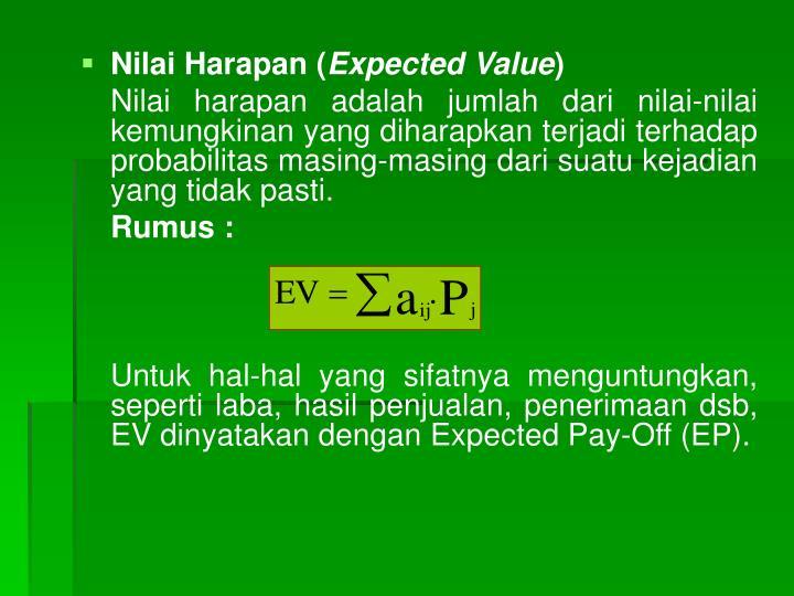 Nilai Harapan (