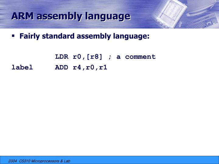 ARM assembly language