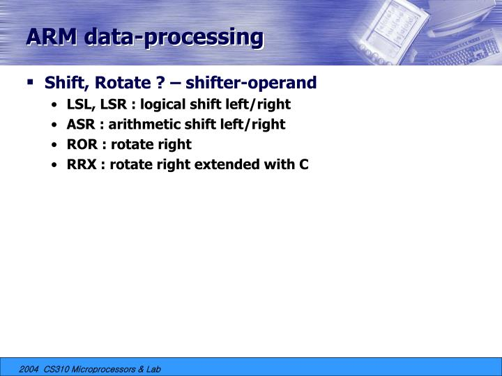 ARM data-processing