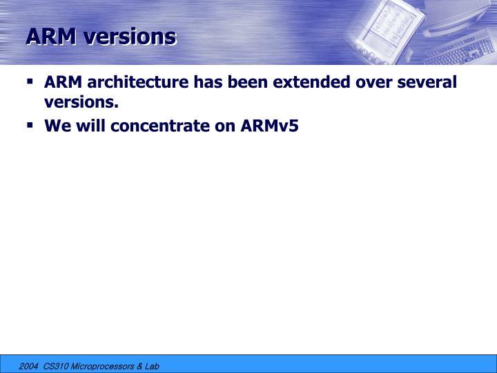 ARM versions