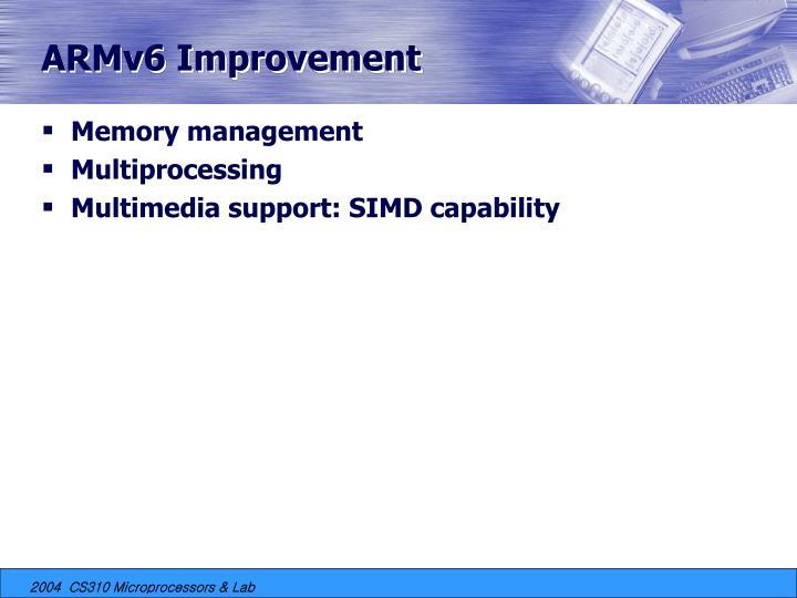 ARMv6 Improvement