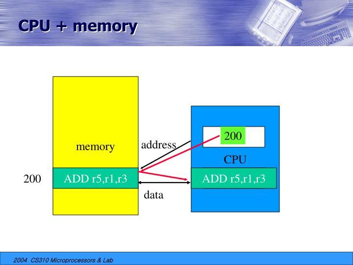 CPU + memory