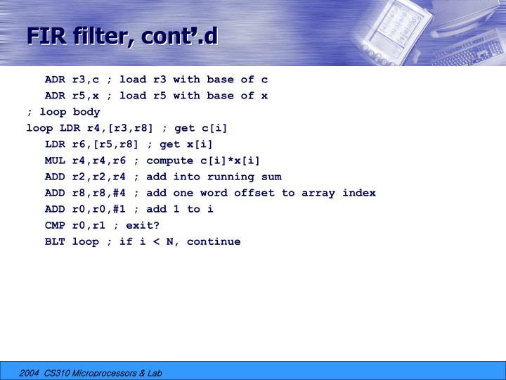 FIR filter, cont