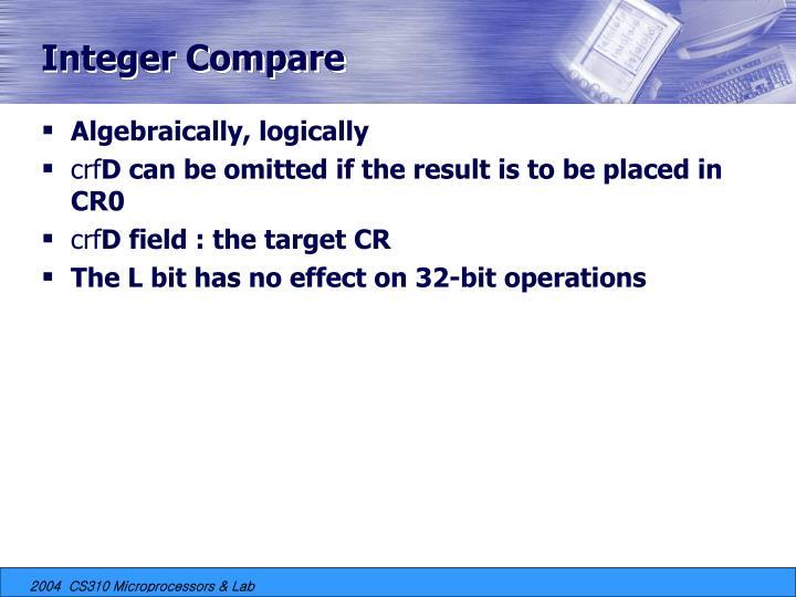 Integer Compare