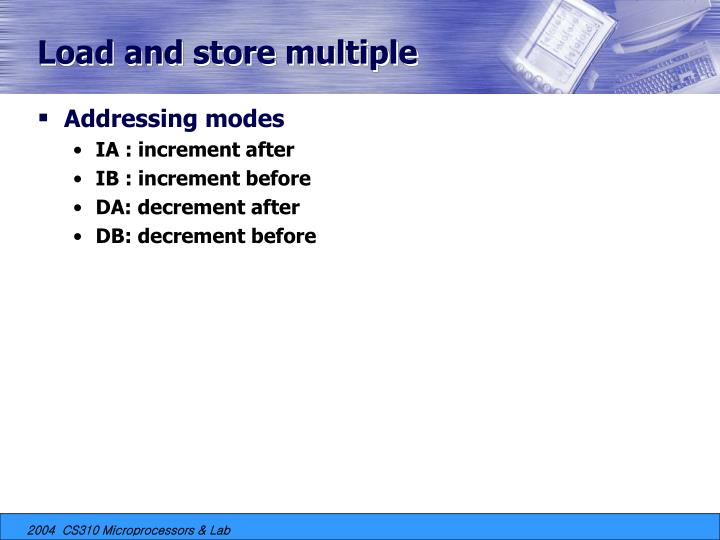 Load and store multiple