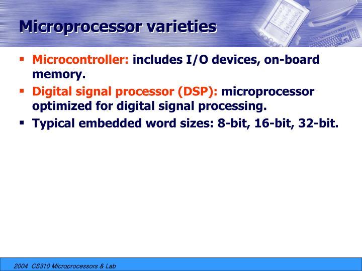 Microprocessor varieties