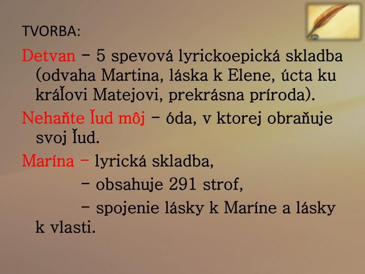 TVORBA: