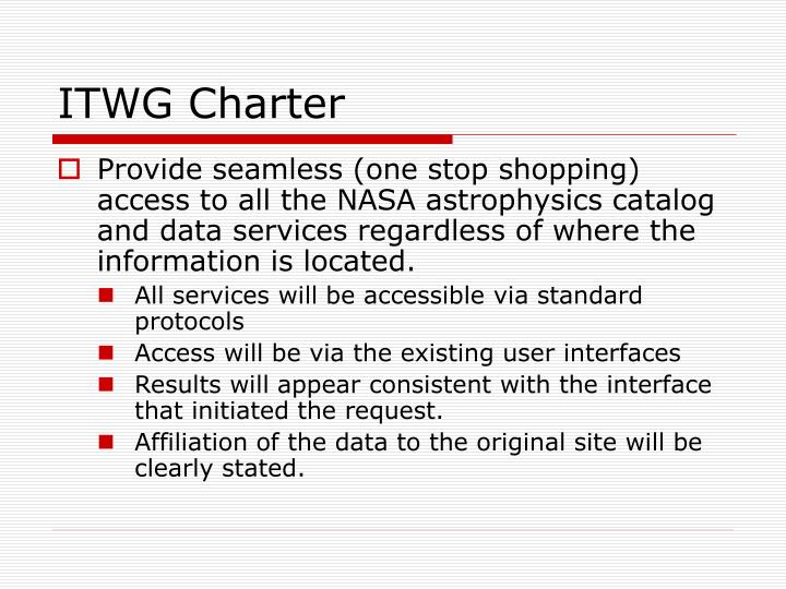 ITWG Charter