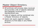 master object directory