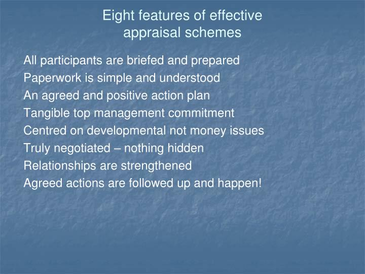 Eight features of effective
