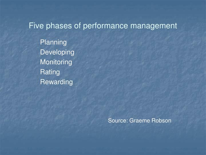 Five phases of performance management