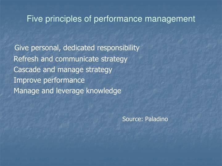 Five principles of performance management
